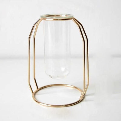 Nordic Style Gold Hanging Test Tube Flower Vases