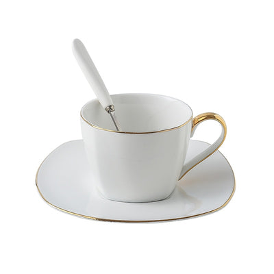 British Coffee Set with Spoon - BIGGLOTS