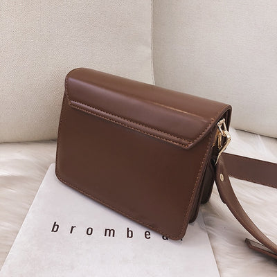 Women's PU Leather Square Shoulder Bag
