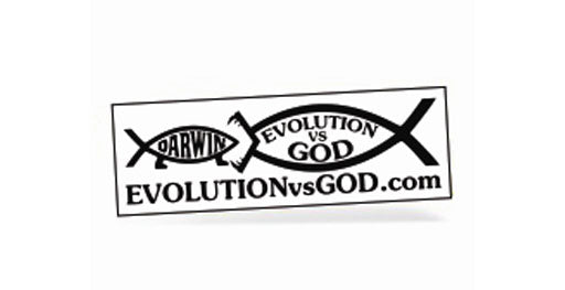 Evolution vs. God vinyl sticker