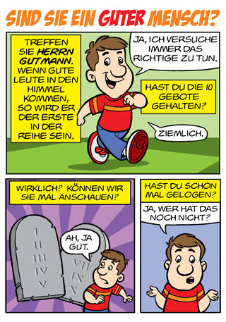 Comic - Sind Sie ein guter Mensch? (German Comic - Are You a Good Person?)