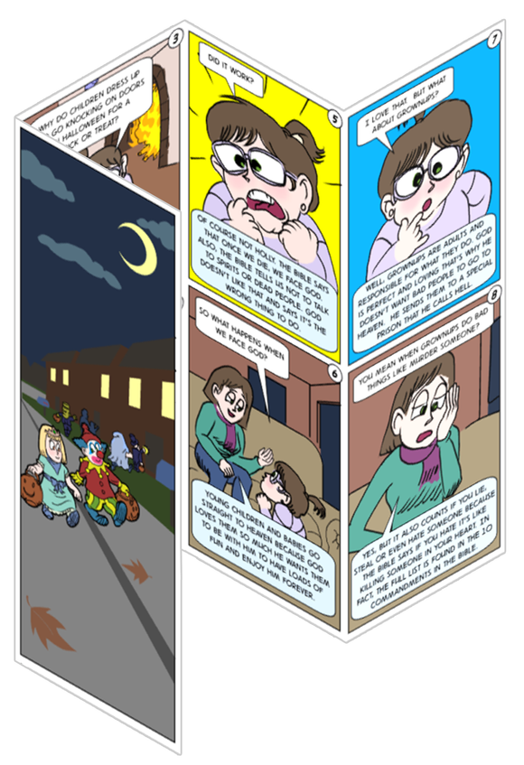 Halloween Comic Tracts for Kids (Holly)