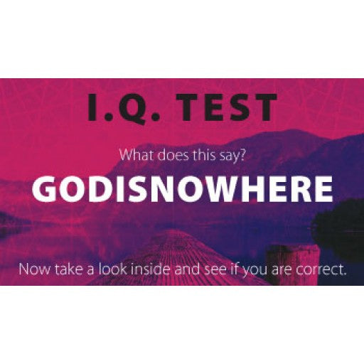 IQ TEST GODISNOWHERE