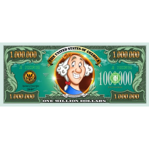 Kids Million Dollar Bill