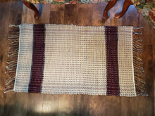 Load image into Gallery viewer, Tan & Burgundy Rug
