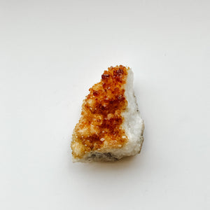 CITRINE DRUZY PALM STONE - LARGE