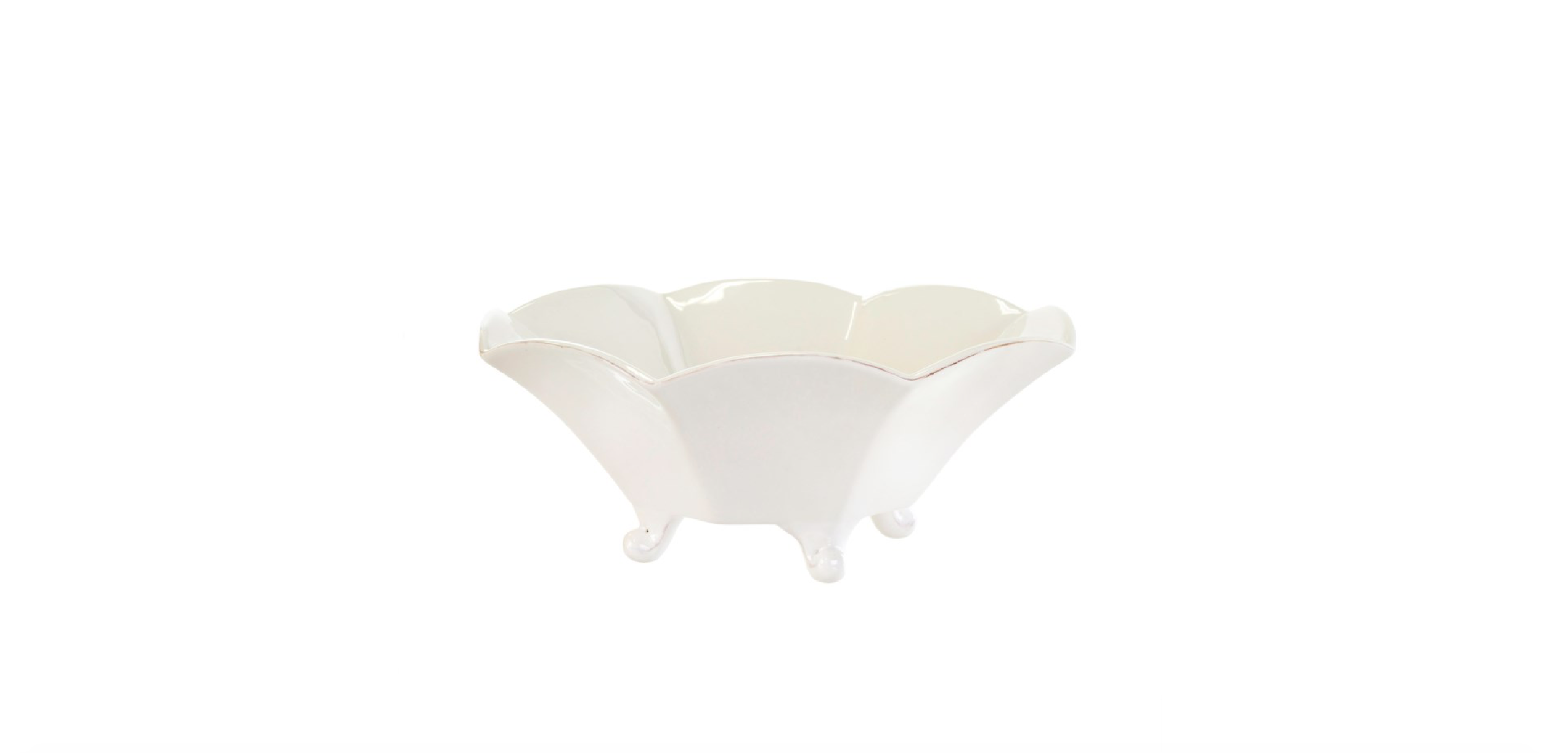 ROMA SCALLOPED SERVING BOWL