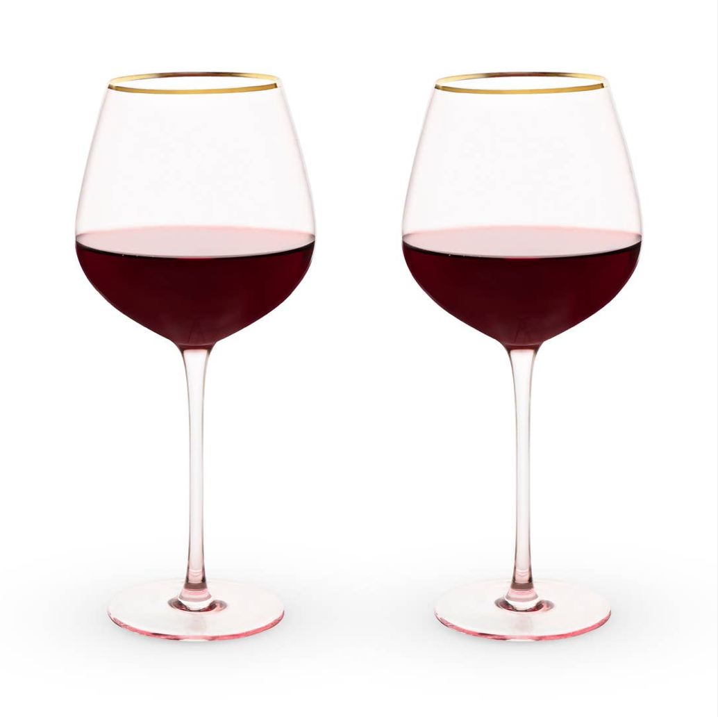 ROSE CRYSTAL RED WINE GLASS