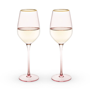 ROSE CRYSTAL WHITE WINE GLASS