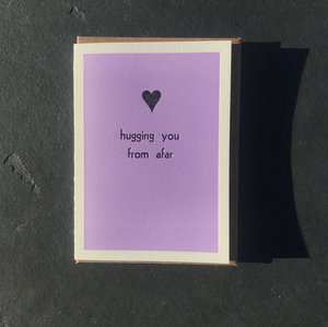 HUGGING YOU FROM AFAR CARD