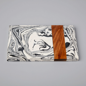 ZEBRA MARBLE AND WOOD BOARD