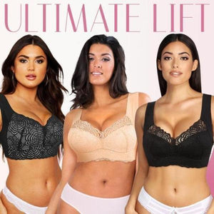 Extra Lift - Ultimate Lift Stretch Full-figure Seamless Lace Cut-out Bra