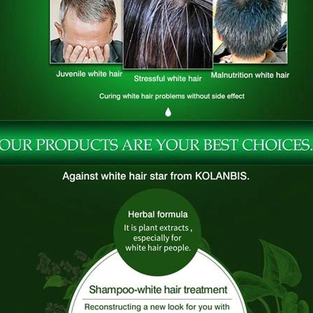 Herbal Anti-Gray Hair Repair Shampoo