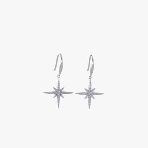 Pavé set star drop earrings