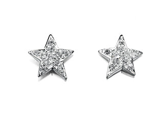 Silver and CZ Set Star Studs