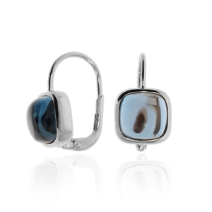 Cushion-cut Carry Me Earrings in London Blue Topaz