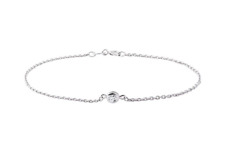 Signature Diamond Bracelet in Silver