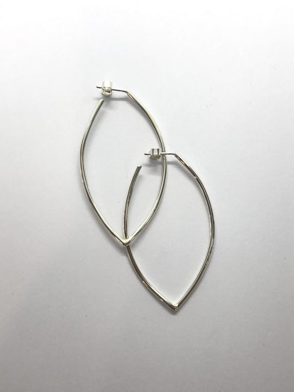 Geo Navette Hoop Earrings