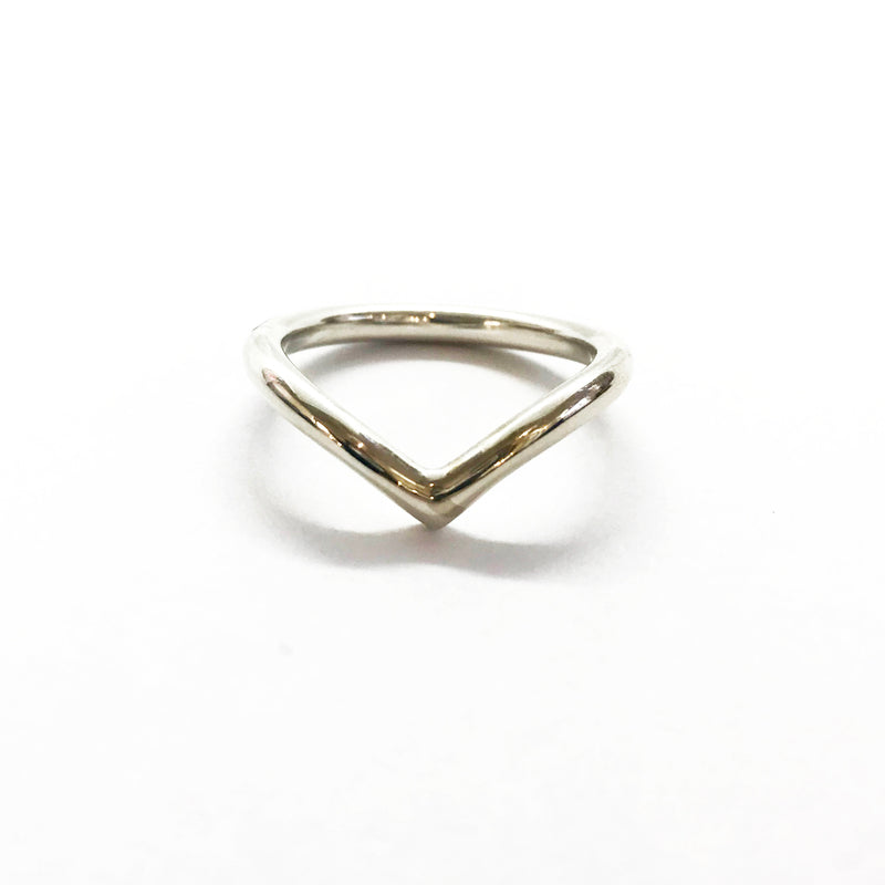Heavy Silver Crest wave ring