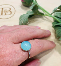 Load image into Gallery viewer, Blue Chalcedony Ring