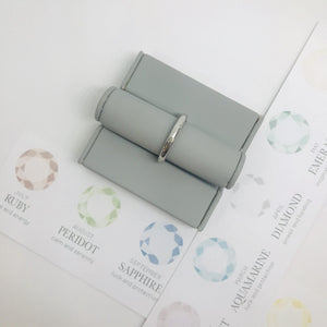 Birthstone Stacking Ring - August