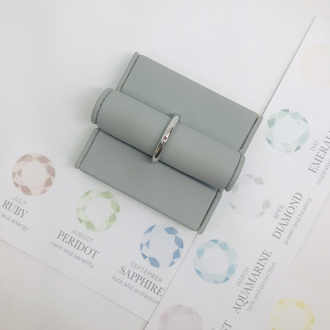 Birthstone Stacking Ring - October
