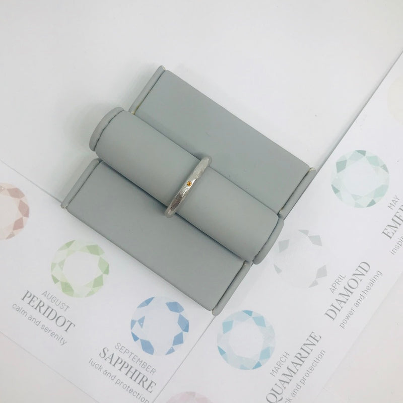 Birthstone Stacking Ring - November