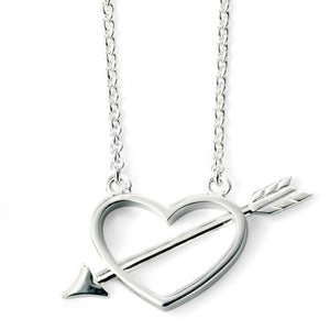 Gulldia Silver CZ Heart Shaped Pendant & Chain