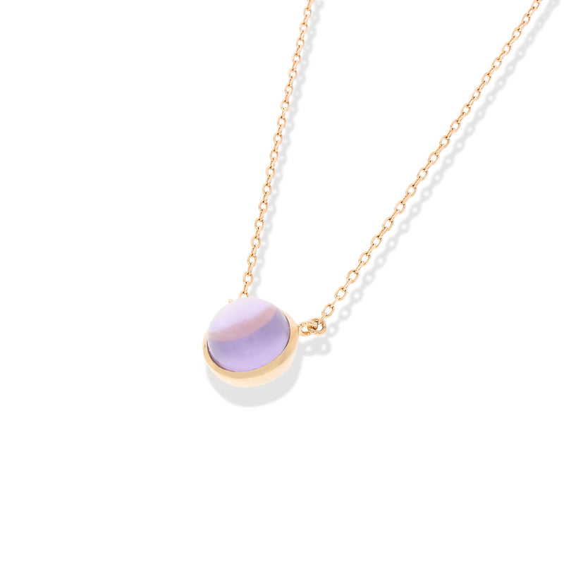 Rubover Amethyst Necklace with 18ct Rose Gold Vermeil