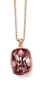 Rose Gold antique pink swarovski pendant