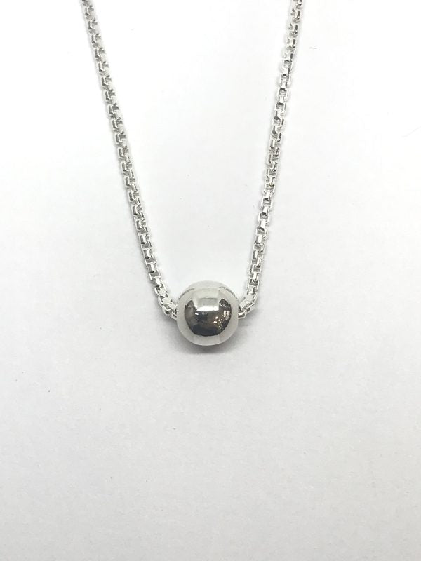 Sliding Silver Global Necklace