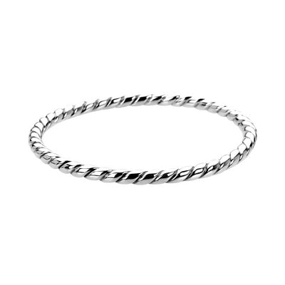 Silver Rope Bangle