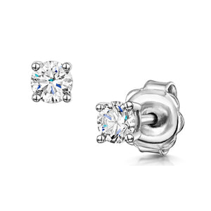 18K White Gold Diamond Stud Earrings 0.30carat
