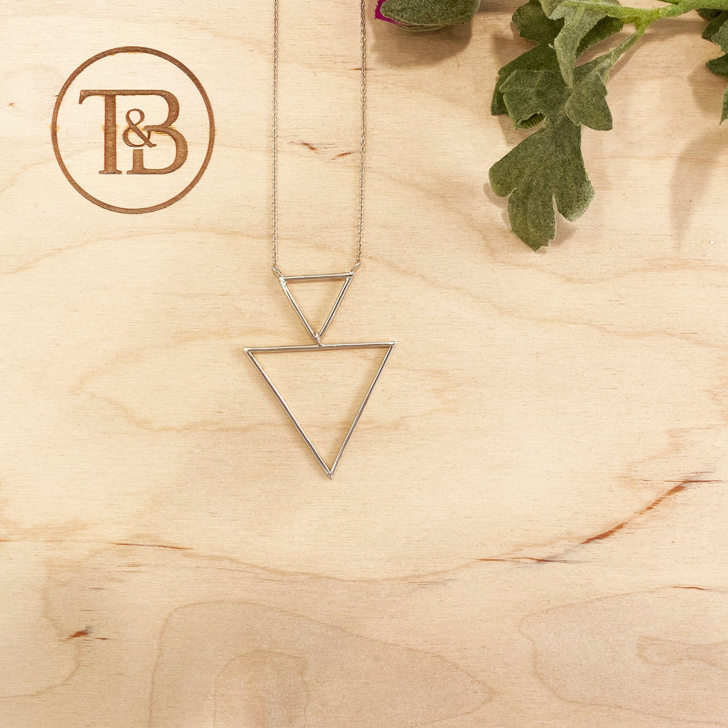 Triangle Geo Necklace in Silver