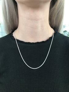 "20"" Silver Spiga Necklace"