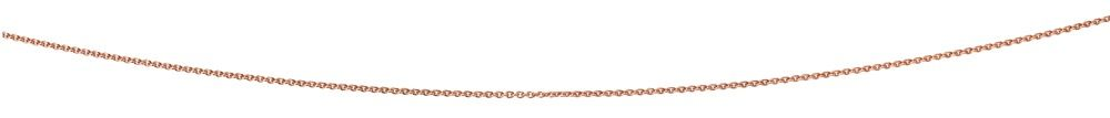 Rose gold plated curb chain
