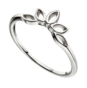 Lotus Flower Stacker ring in silver