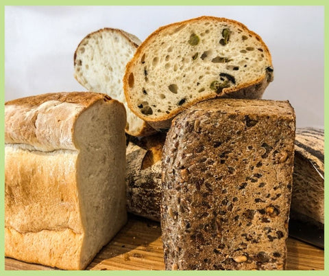 Freshly made home baked bread in a variety of options.