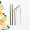 CaliWoods - Stainless Steel Straws Mixed Pack - Contents of pack