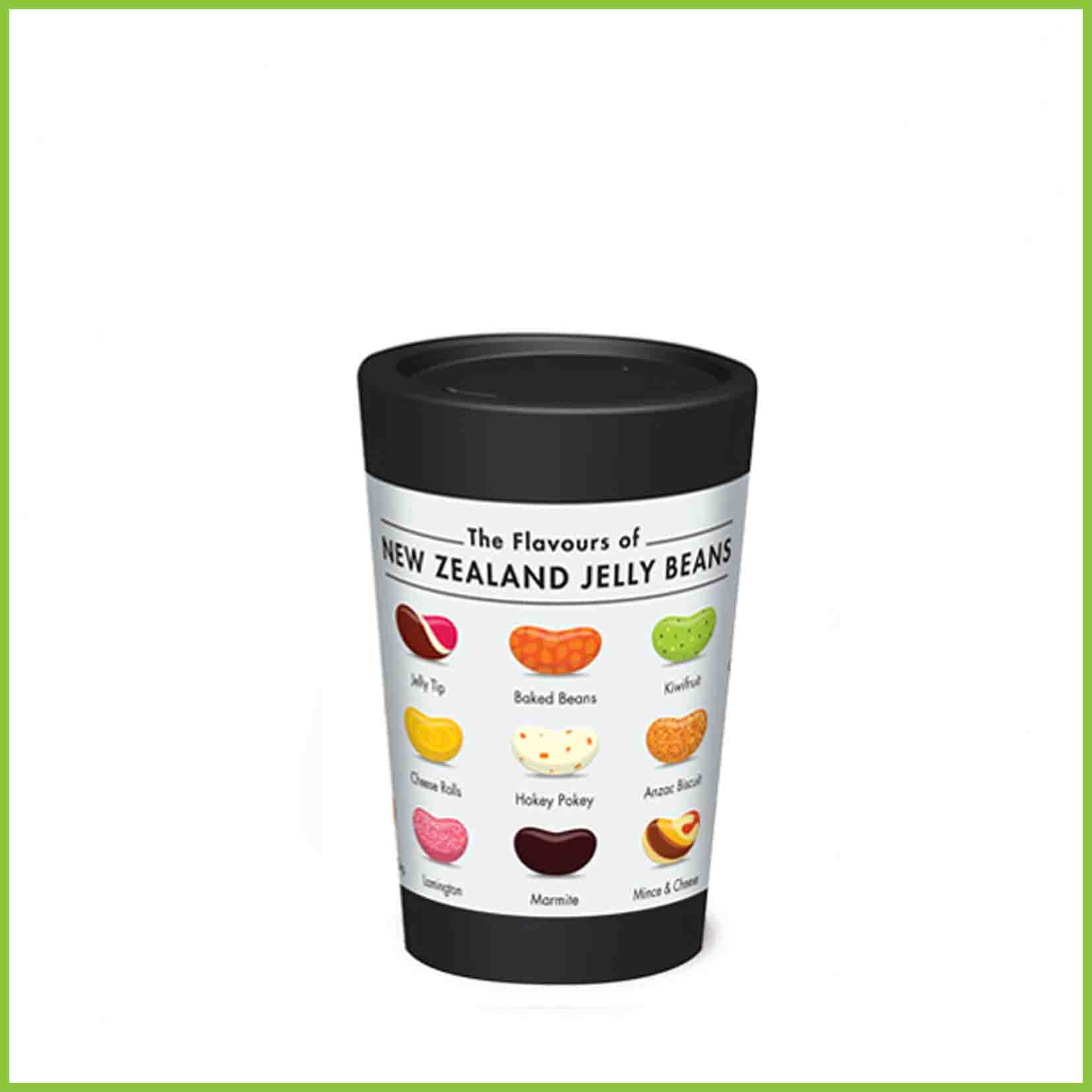 A lightweight reusable cup from CuppaCoffeeCup with a Jelly Beans design.