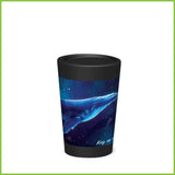 A CuppaCoffeeCup - A lightweight reusable coffee cup with a majestic design of a humpback whale.