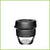 small sized 227ml or 8oz reusable glass cup from Keepcup with a black lid and a black band.