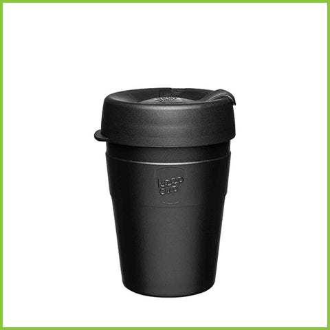 A stainless steel reusable coffee cup from KeepCup.