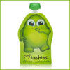 A green Little Mashies reusable food pouch.