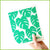 Spruce cloth with a green monstera leaf design.