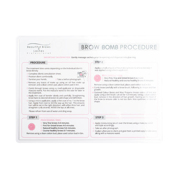 Beautiful Brows & Lashes Brow Bomb Procedure Form