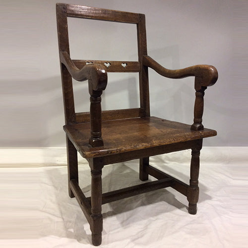 ART POPULAIRE CARVED FRENCH CHAIR