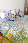 King Size Bed Cover Turquoise