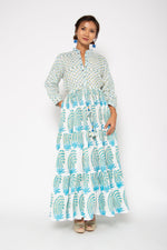 Island Maxi Dress Paisley Blue
