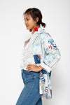 Jade Jacket Mixed Blue Patch